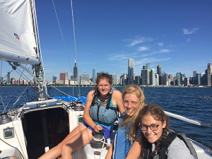 Team Texana sailing the Chicago Mac