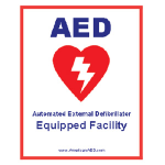 AED Device at Bayfield Yacht Club at Pump House by Dock A, B and C